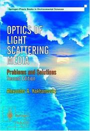 Cover of: Optics Of Light Scattering Media | A. A. Kokhanovsky
