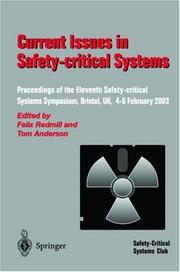 Cover of: Current Issues in Safety-Critical Systems | F. Ed. Redmill