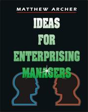 Cover of: Ideas for Enterprising Managers | Matthew Archer