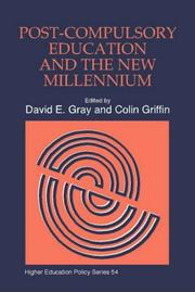 Cover of: Post-Compulsory Education and the New Millenium (Higher Education Policy Series) | David E Gray