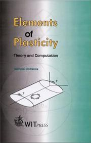 Cover of: Elements of Plasticity | Ioannis Doltsinis