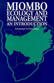 Cover of: Miombo Ecology and Management | Emmanuel N. Chidumayo