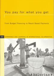 Cover of: You Pay for What You Get | Markus Arbenz