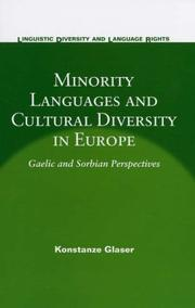 Cover of: Minority Languages And Cultural Diversity in Europe | Konstanze Glaser