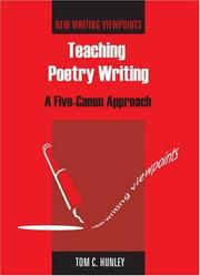 Cover of: Teaching Poetry Writing | Tom Hunley