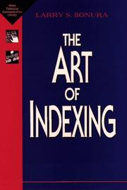 Cover of: The art of indexing by Larry S. Bonura