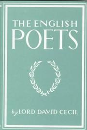 Cover of: The English Poets | Lord David Cecil