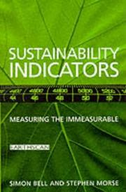 Cover of: Sustainability Indicators by Simon G Bell
