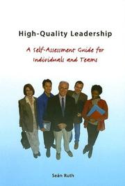 Cover of: Highquality Leadership | Ruth Sean