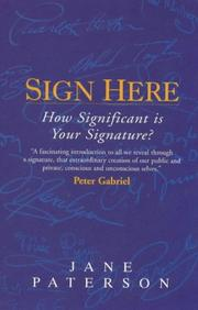 Cover of: Sign Here | Jane H. Paterson