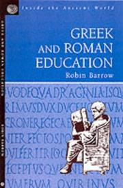 Cover of: Greek and Roman Education (Inside the Ancient World Series) (Inside the Ancient World Series) | R. Barrow
