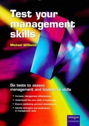 Cover of: Testing Management Skills | Michael Williams