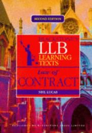 Cover of: LLB Learning Text (Blackstones LLB Learning Texts) by Neil Lucas