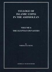 Cover of: Sylloge of Islamic Coins | Norman Douglas Nicol
