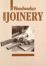 Cover of: The Woodworker Book of Joinery (Woodworker Book Of...) | Woodworker