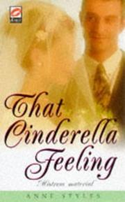 Cover of: That Cinderella Feeling (Scarlet) | Anne Styles