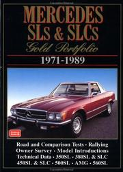 Cover of: Mercedes Sl's & Slc's Gold Portfolio, 1971-1989 | R. M. Clarke