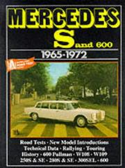 Cover of: Mercedes S And 600, 1965-72 | R. M. Clarke