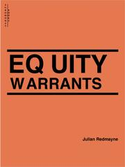 Cover of: Equity Warrants | Julian Redmayne