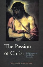 Cover of: The Passion of Christ by William Marshall