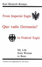 Cover of: Quo Vadis Germania? | Karl Heinrich Reintjes