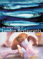 Cover of: Rough London Restaurants (London Restaurants (Rough Guides)) | Charles Campion