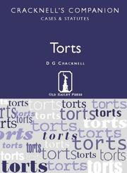 Cover of: Torts (Cracknell's Companion) | D.G. Cracknell