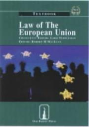Cover of: Law of the European Union | Robert M. MacLean