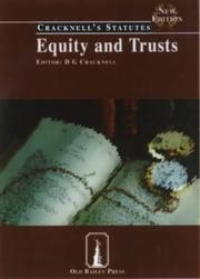 Cover of: Equity and Trusts (Cracknell's Companion Cases and Statutes) | D.G. Cracknell LLB