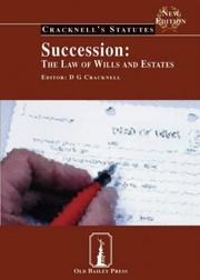 Cover of: Succession (Cracknell's Statutes) | D.G. Cracknell