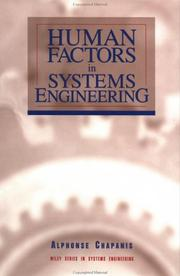 Cover of: Human factors in systems engineering by Alphonse Chapanis