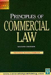 Cover of: Commercial Law (Principles of Law) | Michae Furmston