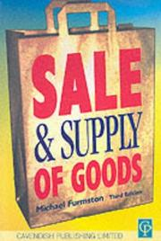 Cover of: Sale & Supply of Goods 3/e (Commercial Law) by Furmston