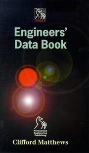 Cover of: The IMechE Engineers' Data Book by Clifford Matthews