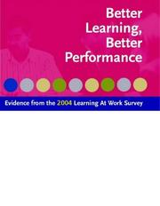 Cover of: Better Learning, Better Performance by Fiona Aldridge