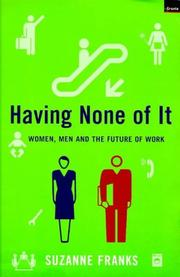 Cover of: Having None of It | Suzanne Franks