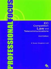 Cover of: EC Competition Law and Telecommunications | Susan Singleton