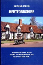 Cover of: Hertfordshire (The King's England) | Mee, Arthur