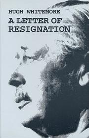 Cover of: A Letter of Resignation (Plays) | Whitemore, Hugh.