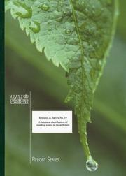 Cover of: A Botanical Classification of Standing Waters in Great Britain and a Method for the Use of Macrophyte Flora in Assessing Changes in Water Quality (Research and Survey into Nature Conservation) by M. Palmer