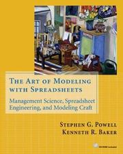 Cover of: The Art of Modeling with Spreadsheets | Stephen G. Powell