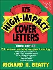 Cover of: 175 High-Impact Cover Letters | Richard H. Beatty