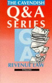 Cover of: Revenue Law Q&A (Q & A) | Ramjohn