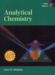 Cover of: Analytical chemistry | Gary D. Christian