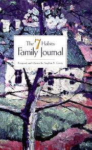 Cover of: The 7 Habits Family Journal by Stephen R. Covey