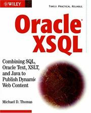 Cover of: Oracle XSQL | Michael D. Thomas
