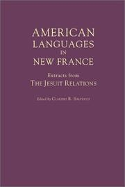 Cover of: American Languages in New France | Claudio R. Salvucci