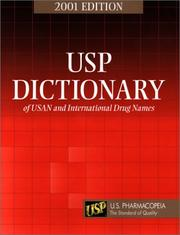Cover of: USP Dictionary of USAN and International Drug Names | U.S.P. Committee of Revision