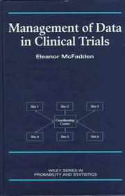Cover of: Management of data in clinical trials by Eleanor McFadden