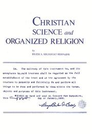 Cover of: Christian Science and Organized Religion | Hugh A. Studdert-Kennedy